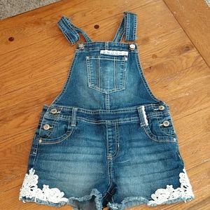 Jordache bib shorts, size 10/12